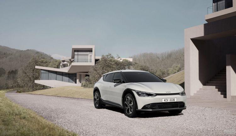 Официальные фото электромобиля Kia EV6