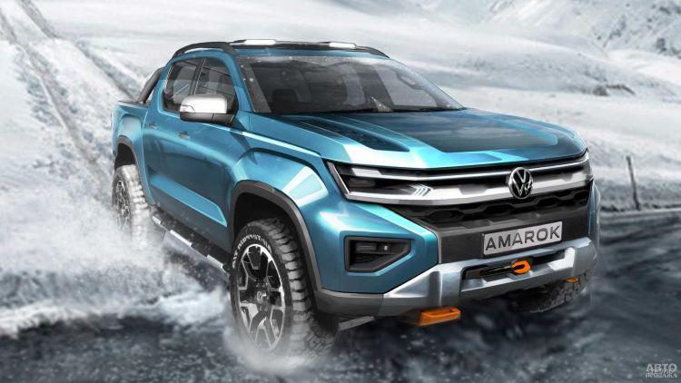 Первое изображение нового Volkswagen Amarok
