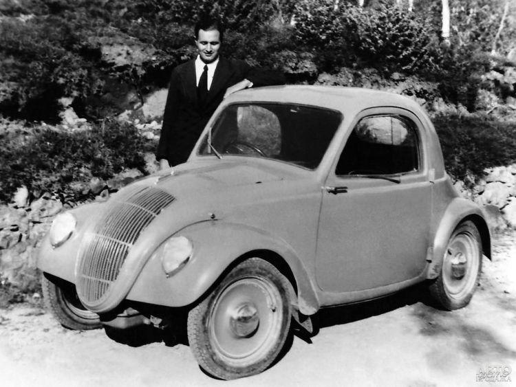 Данте Джакоза и прототип Fiаt 500