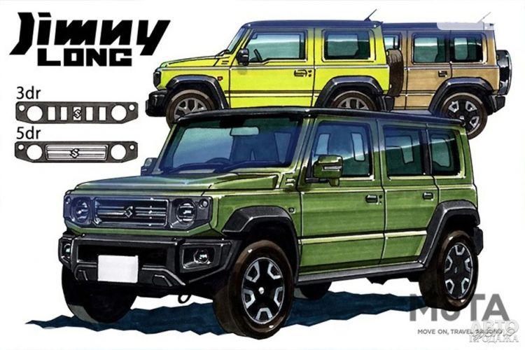 Suzuki Jimny получит удлиненную версию в конце года