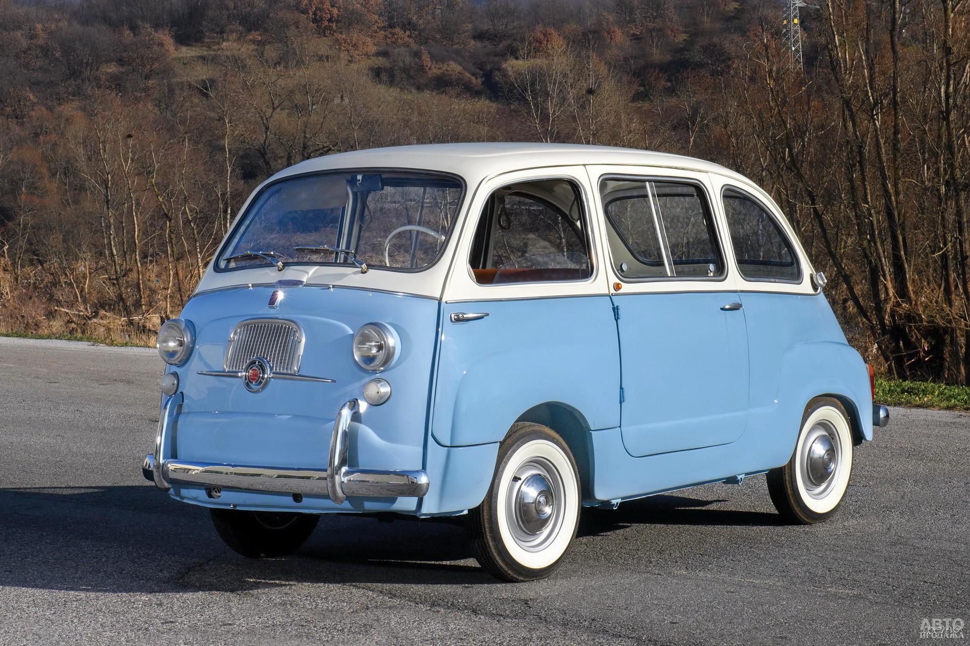Шестиместный Fiat 600 Multipla – прародитель современных мини-вэнов