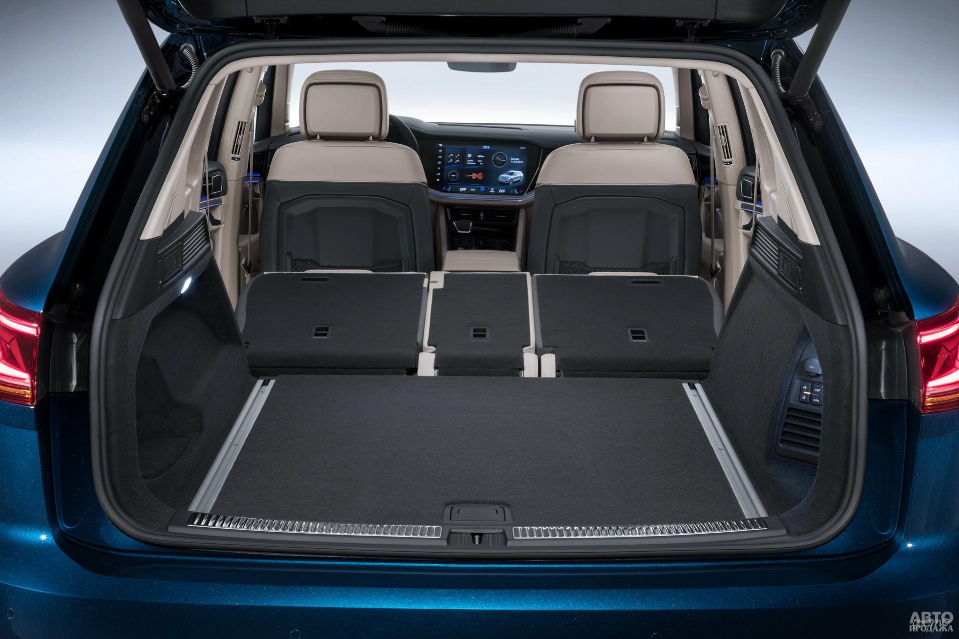 Tоuareg обладает 810-литровым багажным отсеком