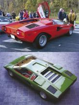 Клиновидный Lamborghini Countach с ощетинившимися воздухозаборниками и дверями, которые для открытия поднимаются и отталкиваются вперед, разрушил все штампы в автомобилестроении