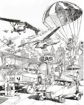 Зарубежные журналы 60-х пестрели такими рисунками