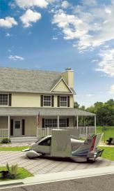 В Terrafugia Inc. подчеркивают, что их аппарат Transition прекрасно смотрится на лужайке возле дома, и занимает столько же места, сколько и обычный легковой автомобиль
