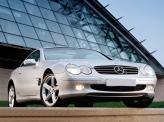 Mercedes-Benz SL 2001 года получил жесткий складывающийся верх