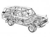 Вседорожник имел рамную конструкцию, а кузовные панели изготовлены из алюминиевых сплавов