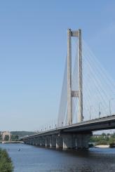 Последним, запущенным в эксплуатацию, киевским мостом через Днепр стал в 1990 году Южный мостовой переход, который на момент открытия считался одним из самых современных подобных сооружений в СССР