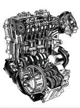 и его такты.  Cхема 4-тактного. двигателя.