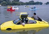 На изготовление автомобиля-амфибии ушло 15 лет