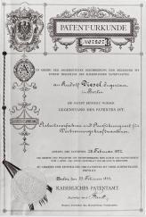 """В 1893 году Рудольф Дизель получает свой первый патент, которым закрепляет за собой право собственности на теоретическое обоснование и конструкцию """"рационального теплового двигателя"""""""
