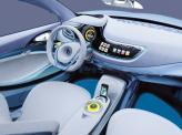 В салоне Fluence Zero Emission Concept все приборы заменены экранами