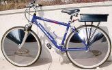 Этот велосипед с помощью электромотора и солнца, получающего энергию от встроенных в колеса солнечных батарей, способен развивать около 30 км/ч. Однако за удовольствие не крутить педали необходимо заплатить приблизительно 1300 у.е.
