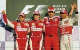 Подиум Гран-при Бахрейна: знакомые все лица
