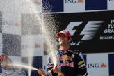 Марк Уэббер отпраздновал победу в Гран-при Испании
