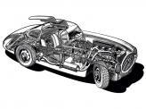 Кузов автомобиля состоял из трубчатого каркаса, который обтягивала алюминиевая обшивка
