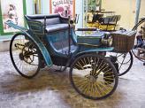 """Один из первых четырехколесных автомобилей Армана Пежо с двигателем внутреннего сгорания Готтлиба Даймлера в вариации """"визави"""""""