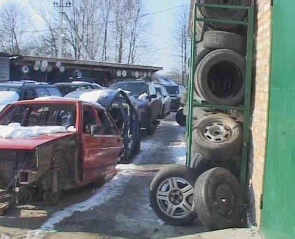 В Львовской области во дворе частного дома инспекторы ГАИ выявили 131 разукомплектованный автомобиль