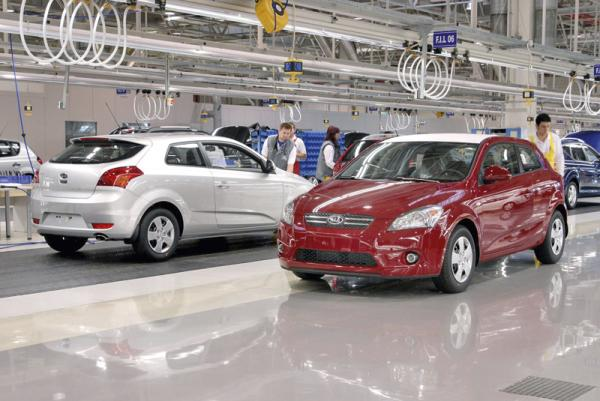 В марте Kia увеличила продажи автомобилей на 22 процента