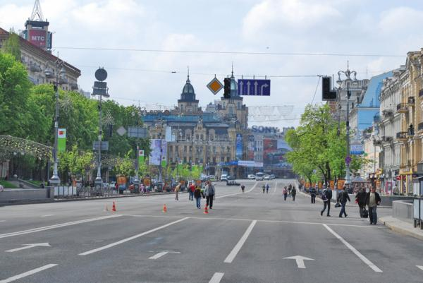 На время проведения Евро-2012 движение в центре Киева будет перекрыто
