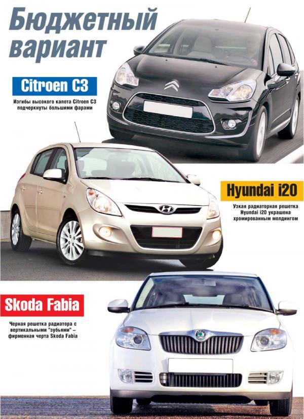 Citroen C3, Hyundai i20 и Skoda Fabia: бюджетный вариант