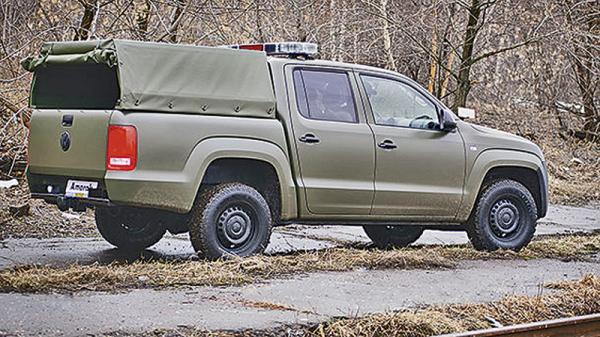 Volkswagen Amarok оказался в лавах Вооруженных Сил