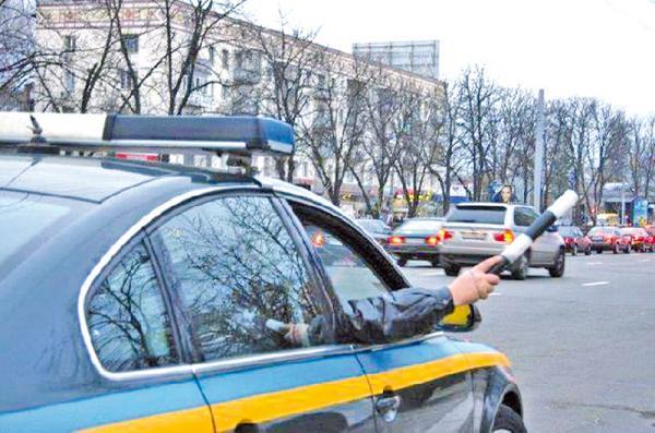 Подразделение особого назначения наводит порядок на киевских дорогах