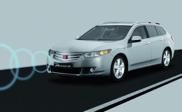Honda представила систему активного торможения для города  (City-Brake active system)
