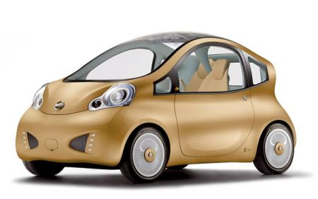 Nissan Nuvu: трехместное средство передвижения для города