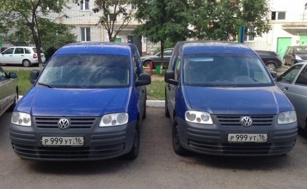 Участились случаи использования автомобилей-двойников
