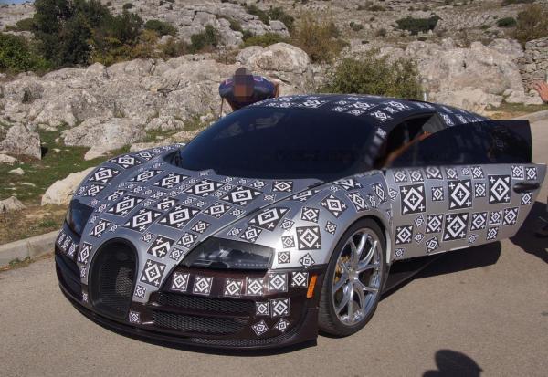 Bugatti Chiron замечен на тестах