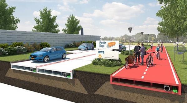 Голландцы будут строить пластиковые дороги
