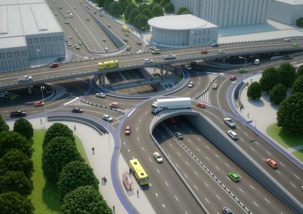 """Новый проект развязки на """"Шулявке"""" предусматривает велополосу и зону для пешеходов"""