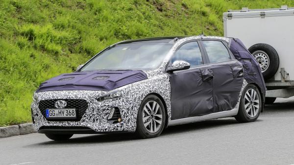 Hyundai i30 третьего поколения проходит тесты