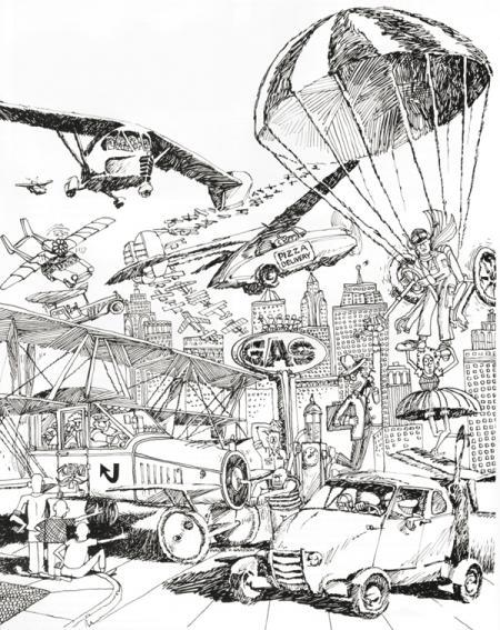 Курьезы техники: летающие автомобили