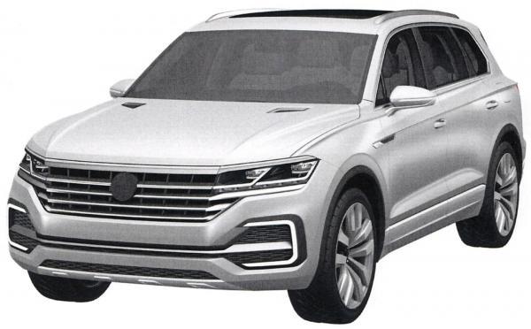 Новый Volkswagen Touareg напоминает концепт-кар T-Prime GTE