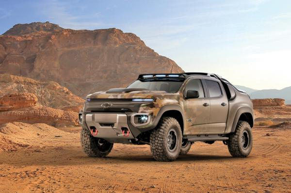 Chevrolet Colorado ZH2: водородный боец