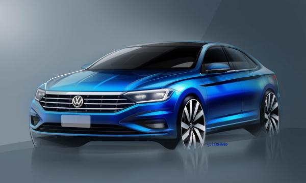 Первые изображения Volkswagen Jetta