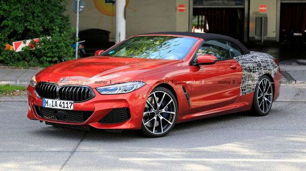 Кабриолет BMW 8 Series засняли на тестах
