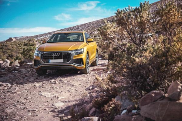 Огромная решетка радиатора и узкие фары – черты нового стиля Audi