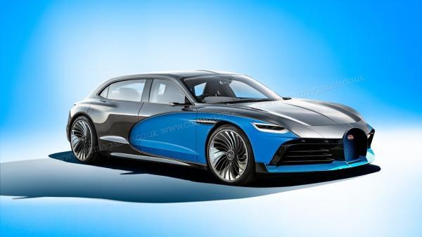 Новый седан Bugatti будет электромобилем