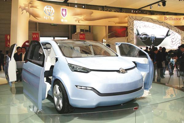 Brilliance Electric Vehicle Concept может быть оснащен одним либо двумя электромоторами