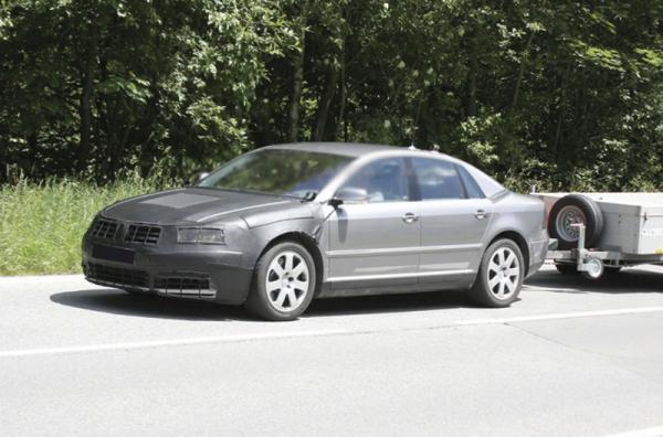 Volkswagen Phaeton засняли в закамуфлированном виде