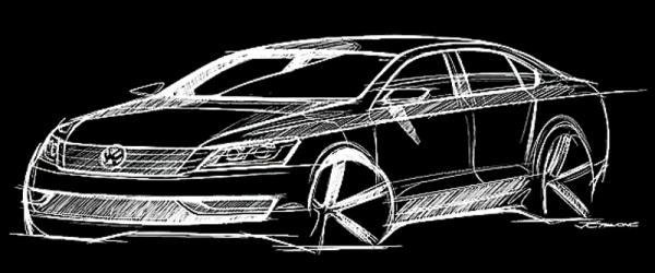 Volkswagen готовит седан среднего класса