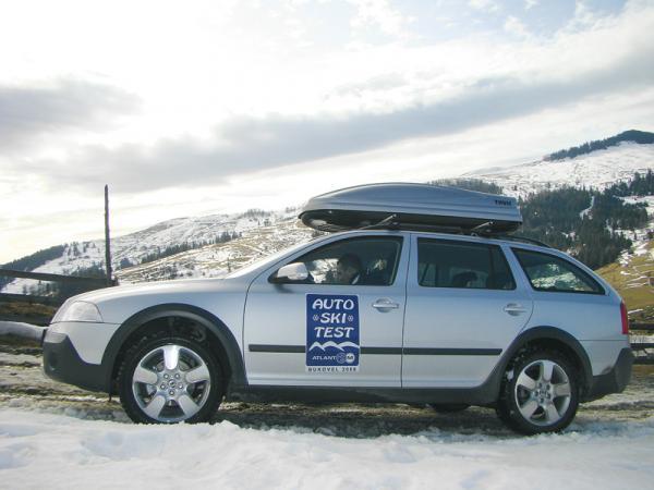 Автомобили на лыжном тесте