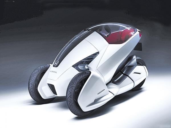 Женева 2010 Honda 3R-C  трехколесный электромобиль