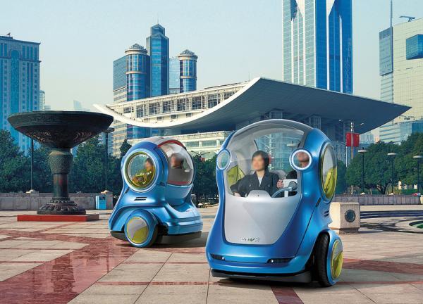 General Motors GM EN-V Concept: маленькие автомобили для большого города