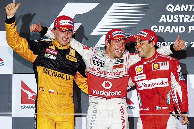 Подиум Гран-при Австралии: неожиданная победа Дженсона Баттона