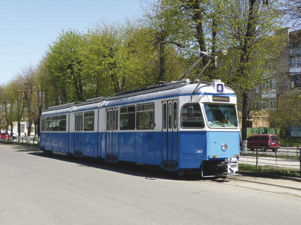 Винница. На маршрут выходят трамваи из Цюриха