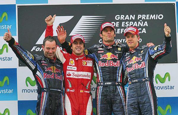 Подиум Гран-при Испании